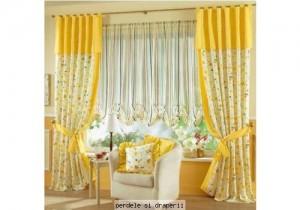 draperii cu imprimeuri florale ieftine
