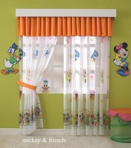 perdele camera copii cu personaje Disney