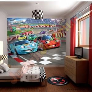 Tapet perete copii curse de masini