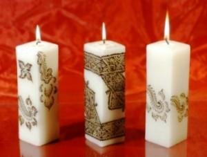 Lumanari decorative ieftine lucrate manual