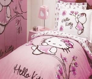 Lenjerie de pat Hello Kitty reducere
