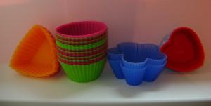 Forme din silicon ieftine colorate pentru briose