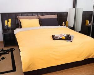 Lenjerie de pat cu elastic colorata
