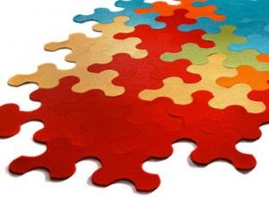Covorase puzzle pentru copii colorate