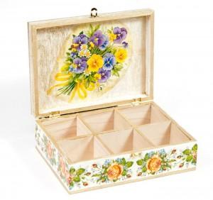 Cutii de ceai pentru cadou pictate