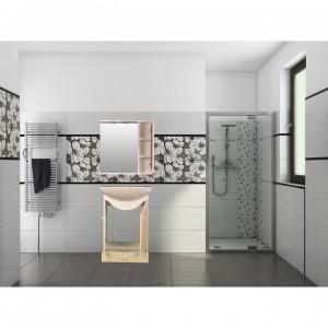 Oglinzi baie decorative ieftine cu rama de lemn