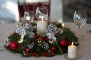 decoratiuni de craciun 2014 coronite cu lumanari parfumate