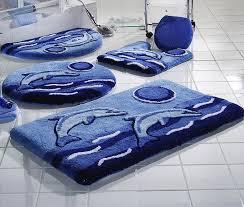 Covoare rotunde de baie si seturi colorate de baie