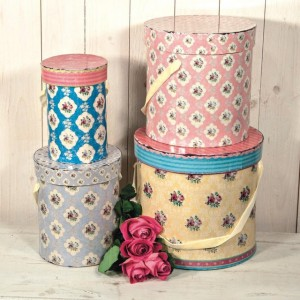 Cutii depozitare bucatarie din carton decorative