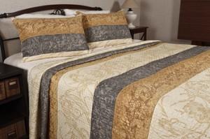 Cuverturi de pat brodate elegante pentru dormitor