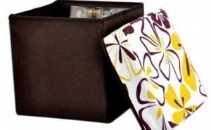 Cutii depozitare din material textil cu modele florale