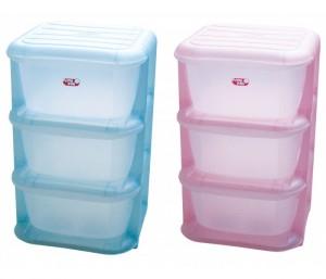 Cutii depozitare plastic transparent cu sertare