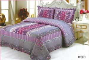Cuverturi de pat matlasate cu volane si imprimeu floral