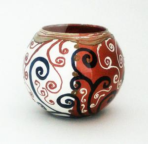 Vaze sticla pictate manual rotunde