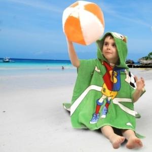 prosoape plaja pentru copii cu gluga disney