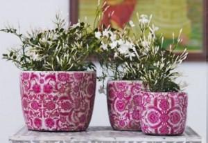 Ghivece mari din ceramica cu model colorat