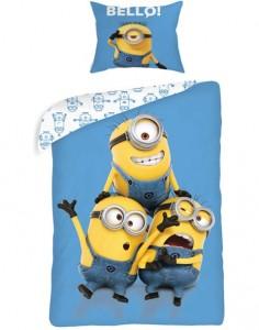 Lenjerii de pat Minions ieftine pentru copii