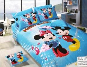 Lenjerii pat copii cu pilota mickey mouse