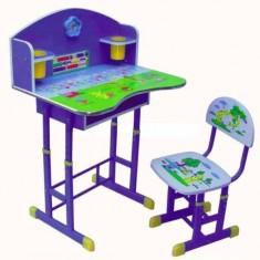 Birou copii cu scaunel reglabil pentru baieti