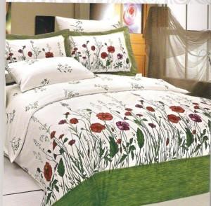 Lenjerii de pat bumbac Black Friday cu imprimeu floral